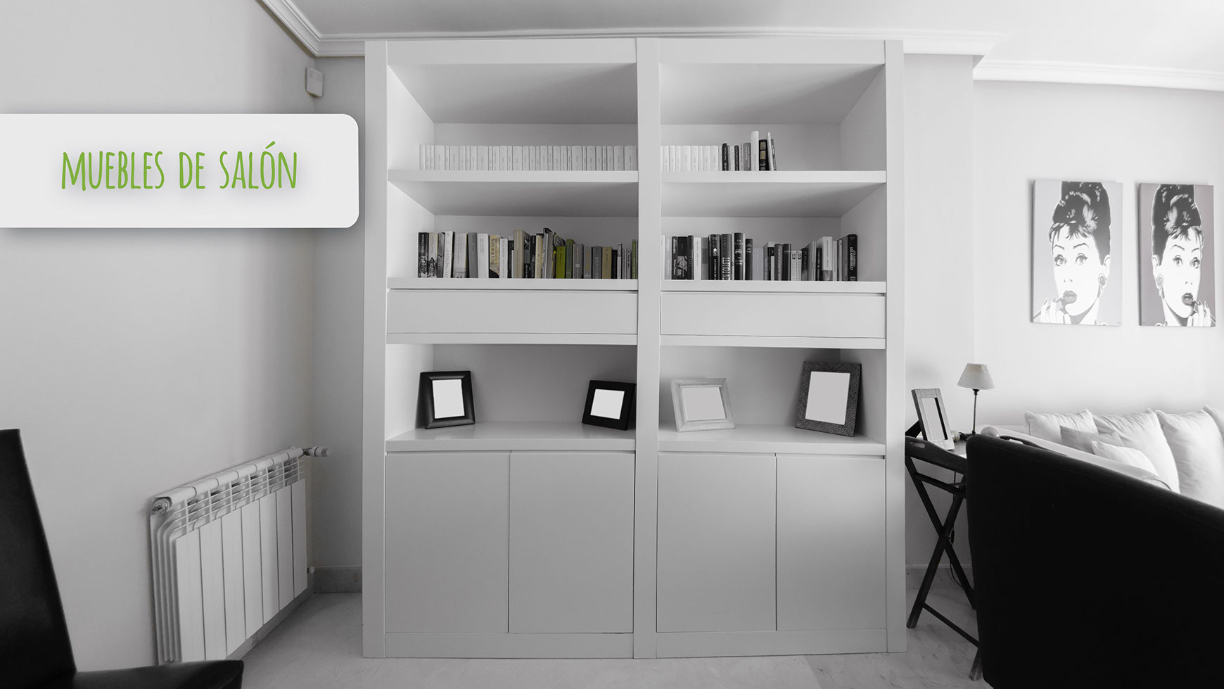 Muebles librerias modernas librera lb con la cantidad de for Muebles online madrid
